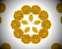 Foto abstrata da laranja da mandala Imagens de Stock