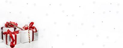 Foto abstrata do Feliz Natal feliz Algumas decorações foto de stock royalty free