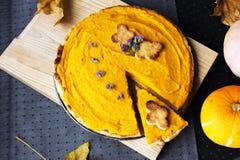 Foto acima da torta americana com abóbora e mascarpone Foto de Stock