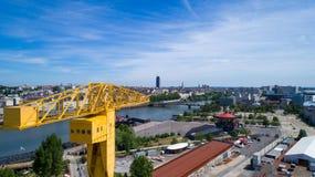 Foto aerea del centro urbano di Nantes Immagine Stock Libera da Diritti
