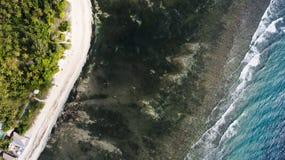 Foto aerea del fuco di vista superiore di paesaggio stupefacente bello della natura Immagini Stock Libere da Diritti