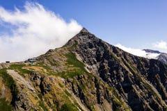 Foto aerea del fuco - Mt Kita delle alpi giapponesi del sud immagine stock