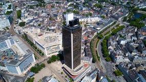 Foto aerea del giro de la Bretagna nel centro urbano di Nantes Fotografie Stock Libere da Diritti