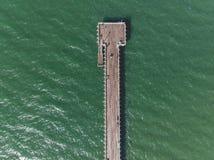 Foto aerea del molo fotografia stock