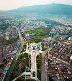 Foto aerea del palazzo nazionale di cultura a Sofia fotografie stock libere da diritti
