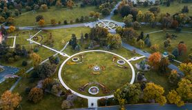 Foto aerea del parco della città di Denver fotografia stock libera da diritti