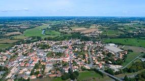 Foto aerea del villaggio di Pere del san del porto, la Loira Atlantique Immagini Stock Libere da Diritti