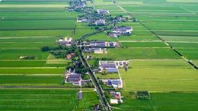 Foto aerea del villaggio di Snelrewaard, Paesi Bassi Immagini Stock Libere da Diritti
