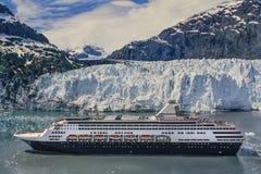 Foto aerea della baia di ghiacciaio dell'Alaska fotografia stock libera da diritti