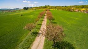 Foto aerea della campagna occidentale della Boemia Fotografie Stock Libere da Diritti