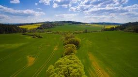 Foto aerea della campagna occidentale della Boemia Immagini Stock Libere da Diritti