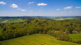 Foto aerea della campagna occidentale della Boemia Fotografie Stock