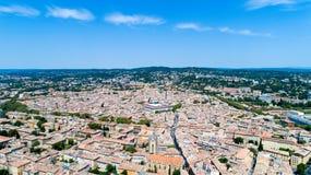 Foto aerea della città di Aix en Provence Immagini Stock