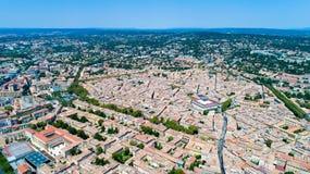 Foto aerea della città di Aix en Provence Immagini Stock Libere da Diritti