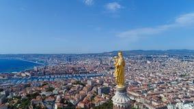 Foto aerea della città di Marsiglia Fotografia Stock