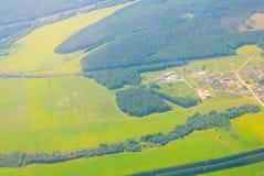 Foto aerea della foresta Fotografia Stock
