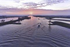 Foto aerea della nave interna Immagini Stock