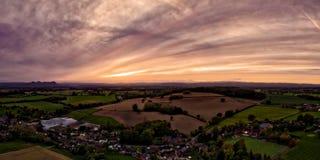 Foto aerea dello Shropshire fotografia stock