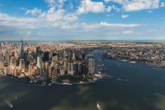 Foto aerea di Manhattan e di Brooklyn New York City Fotografia Stock Libera da Diritti