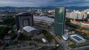 Foto aerea di MITEC, Malesia Immagini Stock Libere da Diritti