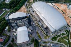 Foto aerea di MITEC, Malesia Immagine Stock