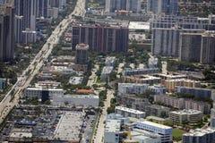 Foto aerea di Sunny Isles Beach FL Fotografia Stock Libera da Diritti