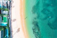 Foto aerea di Sydney - baia di Watsons della baia del campo immagine stock