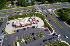 Foto aerea di un fast food del pulcino-Fil-Un immagini stock libere da diritti