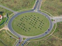 Foto aerea di una rotonda fotografia stock libera da diritti