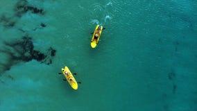 Foto aerea di vista superiore dal fuco di volo di bello paesaggio del mare Fotografia Stock Libera da Diritti