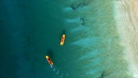 Foto aerea di vista superiore dal fuco di volo di una vista sul mare stupefacente Fotografia Stock