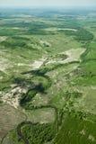 Foto aerea, foresta, prato Fotografia Stock Libera da Diritti