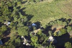 Foto aeree di trascuratezza della tutela di Lewa e di alloggio nel Kenya, Africa Fotografie Stock Libere da Diritti