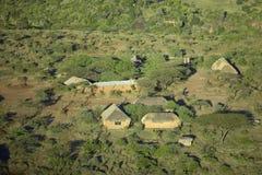 Foto aeree di trascuratezza della tutela di Lewa e di alloggio nel Kenya, Africa Immagine Stock
