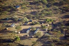Foto aeree di trascuratezza della tutela di Lewa e di alloggio nel Kenya, Africa Immagini Stock