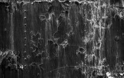 Foto aherrumbrada del primer de la textura del metal Imagenes de archivo