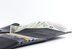 Foto ajustada para o viajante: bolsa, cartões de crédito, passaportes e Foto de Stock Royalty Free