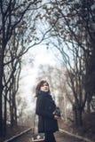 Foto all'aperto della ragazza Fotografie Stock
