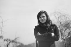 Foto all'aperto della ragazza Fotografie Stock Libere da Diritti