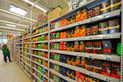 Foto all'ipermercato Auchan Fotografie Stock