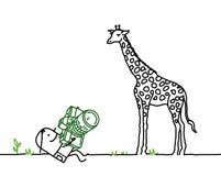 Foto & giraf Stock Afbeelding