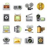 Foto & videopictogrammen Stock Foto's