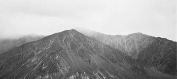 Foto analogica d'annata del film delle alte montagne Fotografie Stock