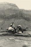 Foto antica di originale 1940 - grande canyon Fotografia Stock