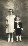 Foto antiga do original 1910 - miúdos bonitos Imagens de Stock Royalty Free