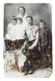 Foto antigua de la familia Imagen de archivo