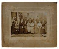 Foto antigua original de un grupo de 22 Fotos de archivo libres de regalías