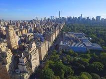 Foto aérea de Manhattan e de Central Park Foto de Stock Royalty Free
