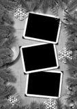 Foto-armazón retro en un fondo de la Navidad. Imagen de archivo libre de regalías