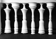 Foto arquitetónica criativa do fragmento Phtoo abstrato em preto e branco Figuras em preto e branco Fotos de Stock Royalty Free